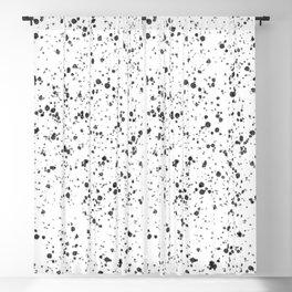 Minimal Splatter Pattern - White Background Blackout Curtain