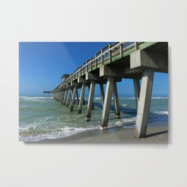 Fishing Pier - Venice Florida Metal Print