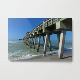 Fishing Pier - Venice Florida Metal Print