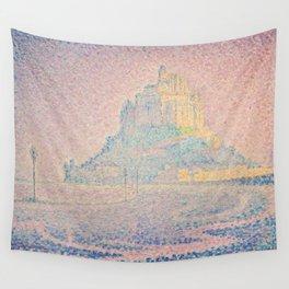 Paul Signac - Mount Saint Michel Fog and Sun Wall Tapestry