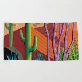 Cactus on Mountaintop Beach Towel