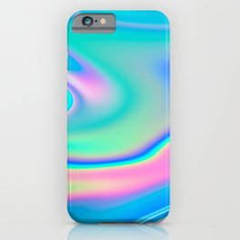 Holographic Iridescent Chill Vibes iPhone Case