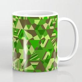 Colourful triangular mosaic in the nuance of green Coffee Mug