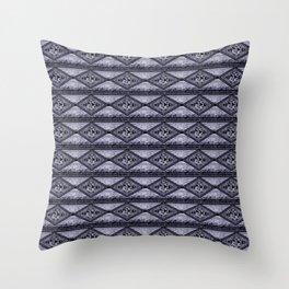 Gray Diamond Throw Pillow