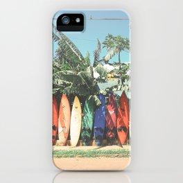 Surfboards Maui Hawaii iPhone Case