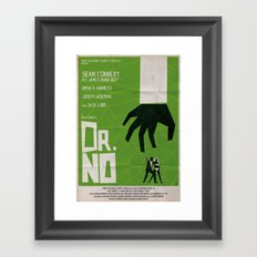 Green Dr No Framed Art Print
