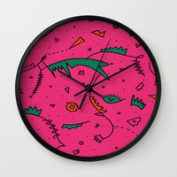 cities Wall Clocks featuring Cities by Amanda Trader