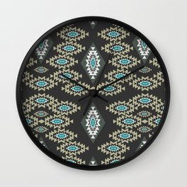 Little shapes in gray Wall Clock
