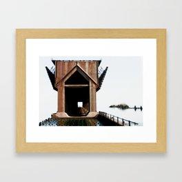 Surreal ore dock Framed Art Print