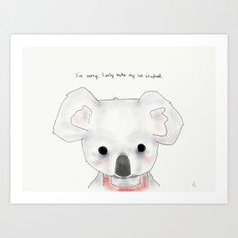 kimberly koala Art Print