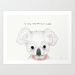 kimberly koala Art Print