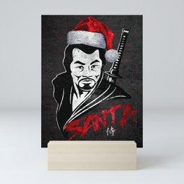 Samurai Santa at Christmas, Ronin Mini Art Print