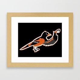 Hello BirdO Framed Art Print