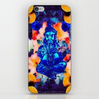 ganesh iPhone & iPod Skins featuring ganesh by Candice Steele Collage and Design