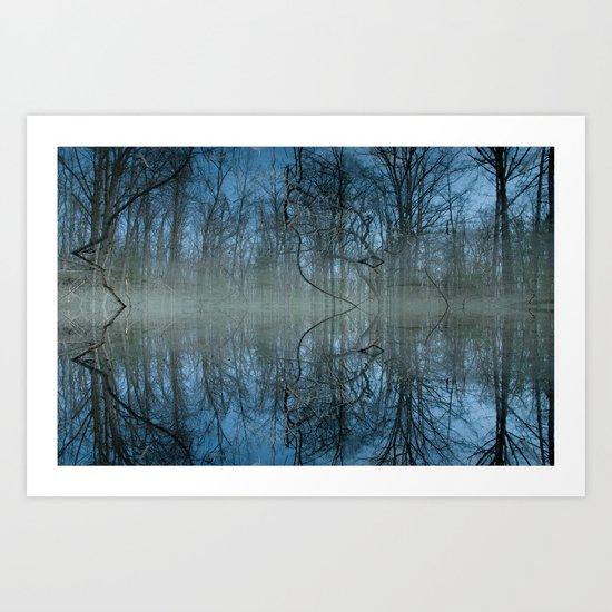 Deep Cool Blue Art Print