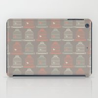 calendars iPad Cases featuring Bird Cage Pattern, Illustration, Shabby Chic, Vintage, by Shabby Studios Design & Illustrations ..