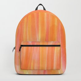 Sunset Red Orange and Yellow Watercolor Backpack