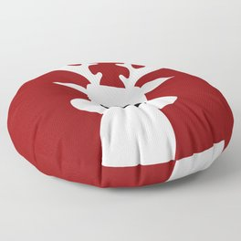 Reindeer on red background Floor Pillow