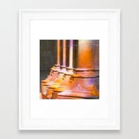 stone Framed Art Prints featuring stone by Tereza Del Pilar