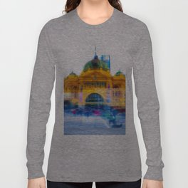 Flinders Street Photo Montage Long Sleeve T-shirt