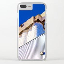 Blue Silos Clear iPhone Case