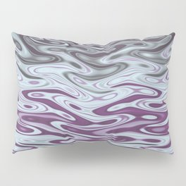Ripples Fractal in Muted Plums Pillow Sham