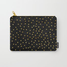 Gold triangles pattern Carry-All Pouch