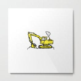 Construction Cartoon Metal Print