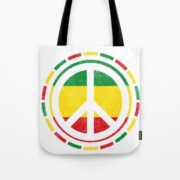 Distressed Rasta Peace design Gift for Reggae Lovers product Tote Bag