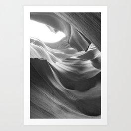 ANTELOPE CANYON (B+W) Art Print