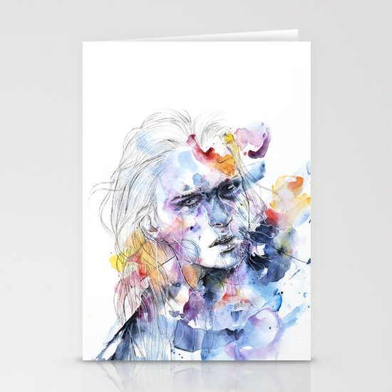 cold crossing Stationery Cards