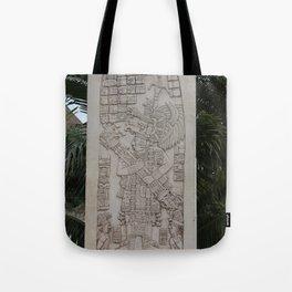 Coba Maya Stele Art Yucatan Tote Bag