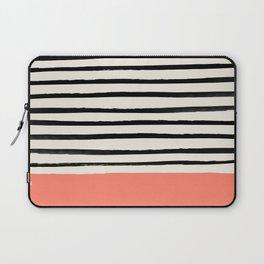 Coral x Stripes Laptop Sleeve