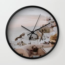 santorini x / greece Wall Clock