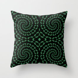 Green Sparkle Pattern Throw Pillow