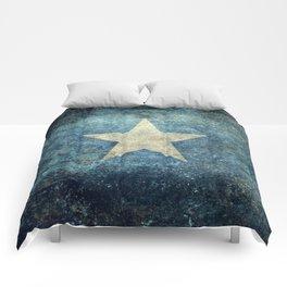 Somalian national flag - Vintage version Comforters