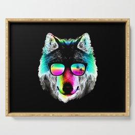Wolf Rainbow Sunglasses Serving Tray
