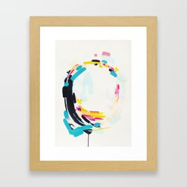 Yesterday to Tomorrow - abstract painting by Jen Sievers Framed Art Print