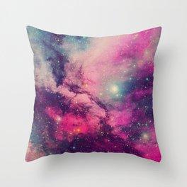 Purple Twilight Galaxy Throw Pillow