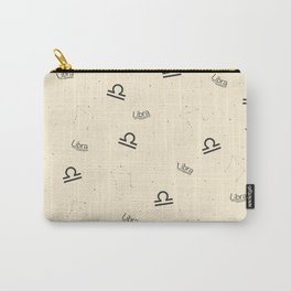 Libra Pattern - Beige Carry-All Pouch
