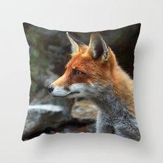 Fox renard 4 Throw Pillow
