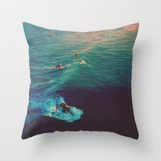 Ride the Wave Throw Pillow