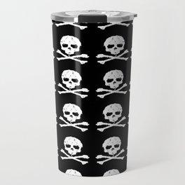 Skull and X-Bones in Black and White (Smaller) Travel Mug