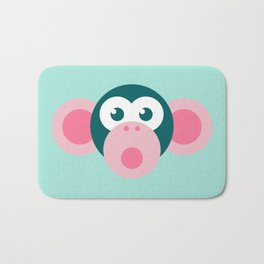 """Oops!"" Stylized Monkey - Zoo series Bath Mat"