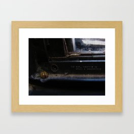 for now Framed Art Print