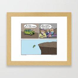 """Kia Hamsters"" - Stuck in Reverse comic Framed Art Print"