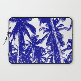 Palm Trees Design in Blue and White Laptop Sleeve