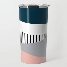 Colorful waves design Travel Mug