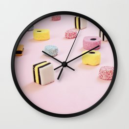 Abstract Colored Chewy Candies Wall Clock