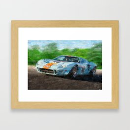 Ford GT 40, Gulf Framed Art Print